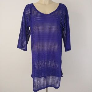 O'Neill Royal Blue Mesh Swimsuit Cover-Up Sz XS/S